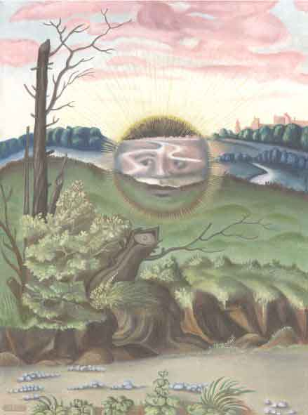 Black Sun, an oil painting by Adam McLean. Copyright 2002